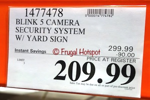 Blink 5-Camera Security System | Costco Sale Price