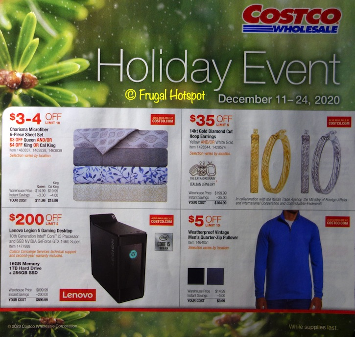 Costco Holiday Event December 2020 P1