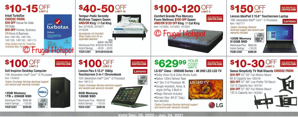 Costco JANUARY 2021 Coupon Book Page 11
