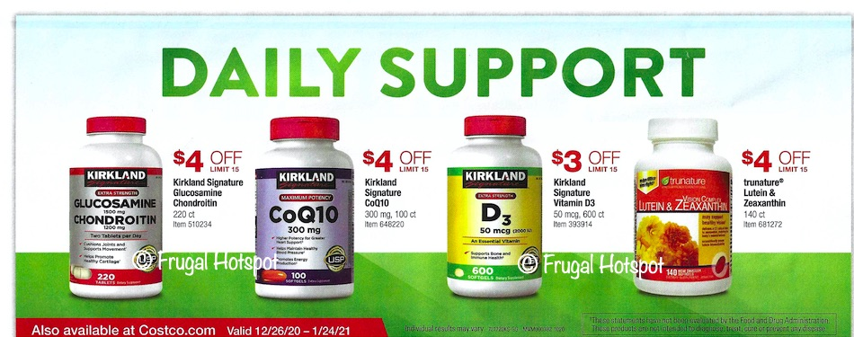 Costco JANUARY 2021 Coupon Book Page 2