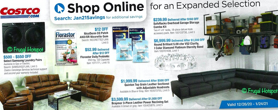 Costco JANUARY 2021 Coupon Book page 22