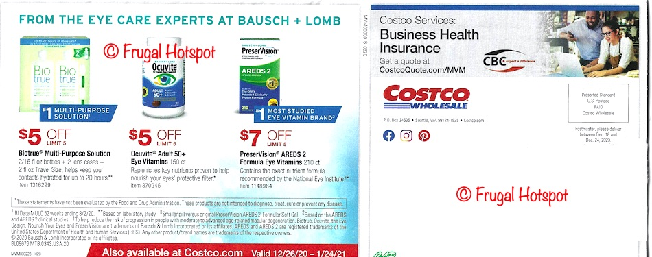 Costco JANUARY 2021 Coupon Book page 24