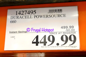 Duracell PowerSource 660 | Costco Sale Price