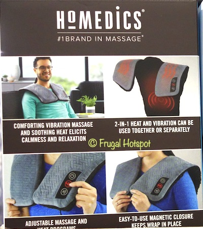 HoMedics Weighted Heated Wrap | Costco 1448531