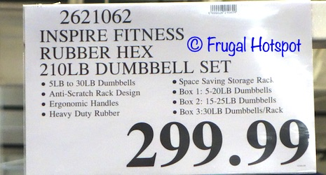 Inspire Dumbbell Set with Rack | Costco Price