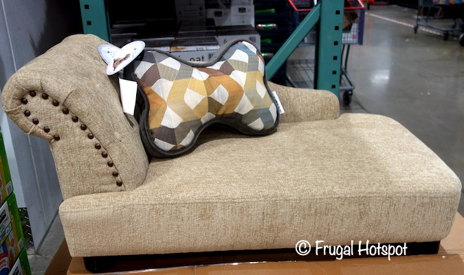La-Z-Boy Lakewood Pet Chaise Sofa with Pillow | Costco Display