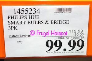 Philips Hue White and Color Ambiance A19 Starter Kit | Costco Sale Price