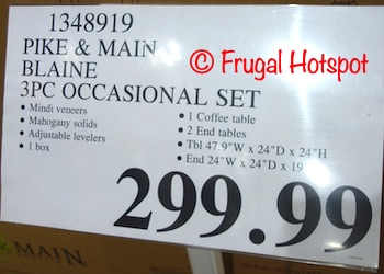 Pike and Main Occasional Set | Costco Price