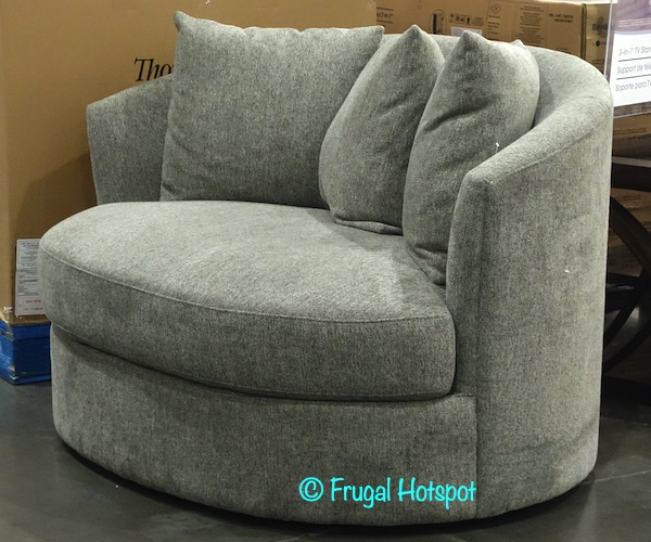 Thomasville Fabric Swivel Chair with Pillows | Costco Display