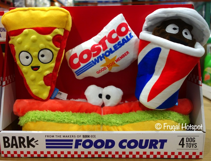 BarkBox Bark Food Court Dog Toy Bundle | Costco Display