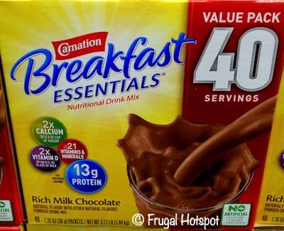Carnation Breakfast Essentials 40 count | Costco