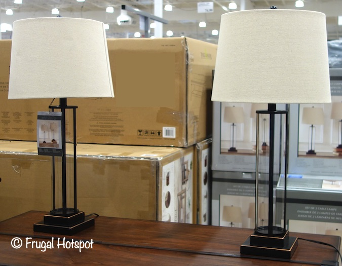 Davidson Glass Table Lamp 2-Pack by Global Direct | Costco Display