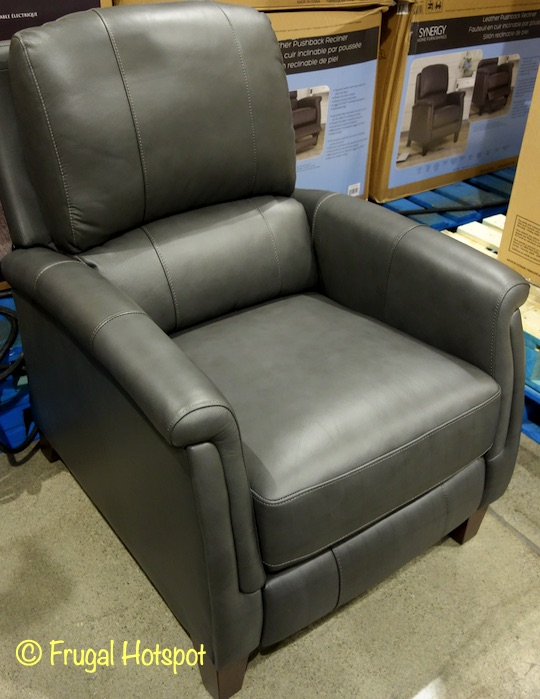 Everlie Leather Pushback Recliner Synergy Home | Costco Display