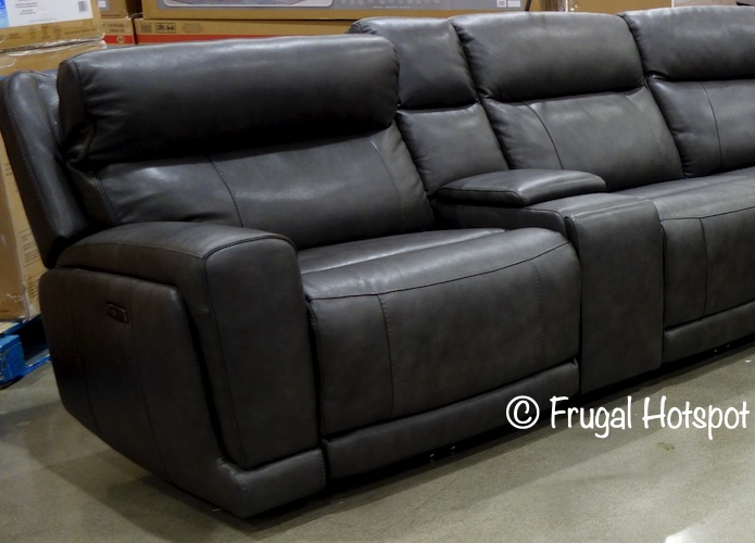 Lauretta Leather Power Reclining Sectional by Gilman Creek | Costco Display