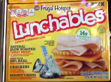 Lunchables Turkey Cheddar Crackers Hershey's Kisses 6 pack | Costco