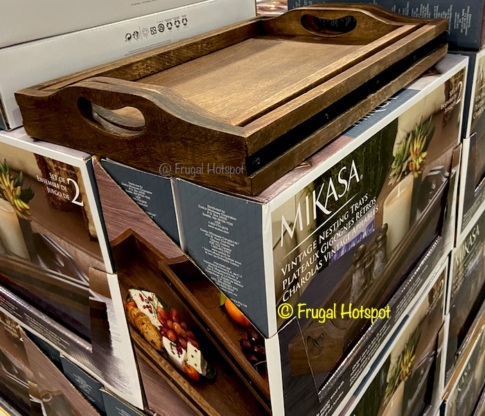 Mikasa Wood Trays 2-Pack | Costco Display