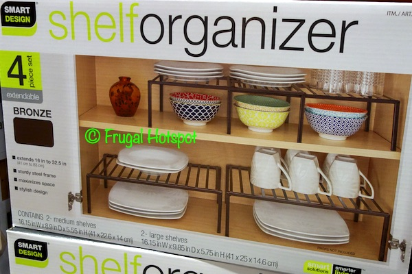 Smart Design Shelf Organizer Bronze | Costco