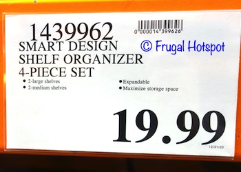 Smart Design Shelf Organizer Dimensions | Costco Price