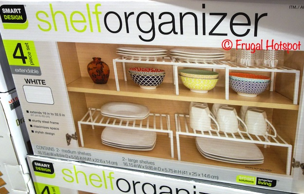 Smart Design Shelf Organizer White | Costco