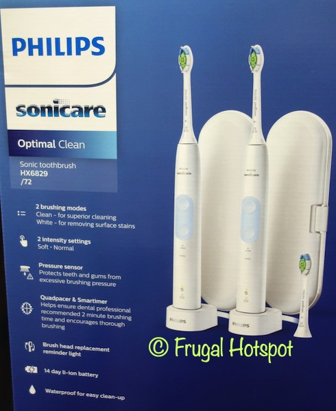 Sonicare Optimal Care Power Toothbrush details | Costco