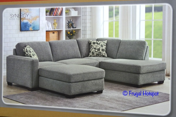 Synergy Home Fabric Sectional | Costco 1435345