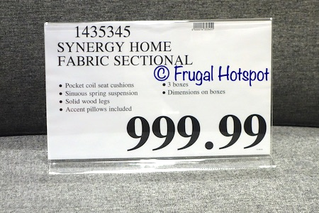 Synergy Home Fabric Sectional | Costco Price