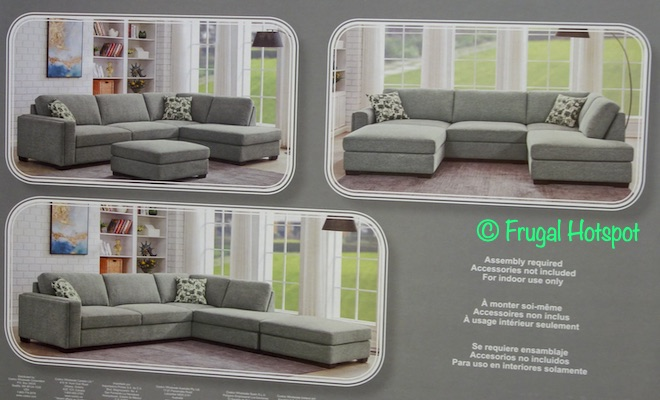 Synergy Home Fabric Sectional and Ottoman | Costco