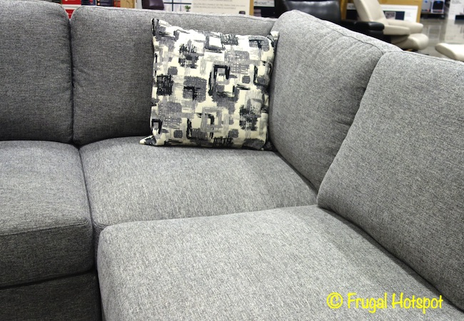 Synergy Home Fabric Sectional with Pillow | Costco Display