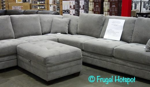 Thomasville Selena Sectional and Ottoman | Costco Display