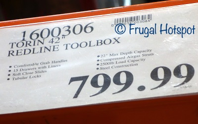 Torin Redline Rolling Tool Chest | Costco price