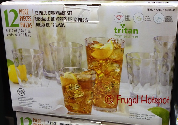 Tritan Drinkware Hammered Finish Set Clear | Costco