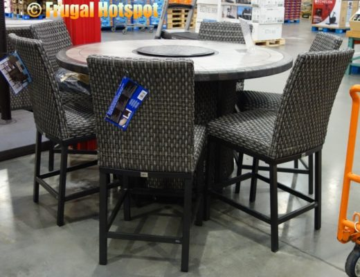 Agio Park Falls 7-Piece High Dining Fire Table Set   Costco Display