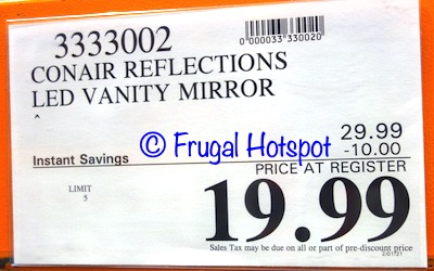 Conair Reflections LED Lighted Vanity Mirror   Costco Sale Price
