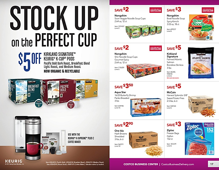 Costco Coupon Book Business Center MARCH 2021 Page 16 page 17