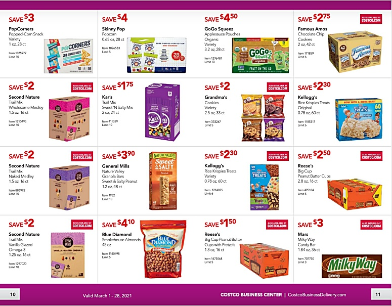 Costco Coupon Book Business Center MARCH 2021 Page 10 page 11