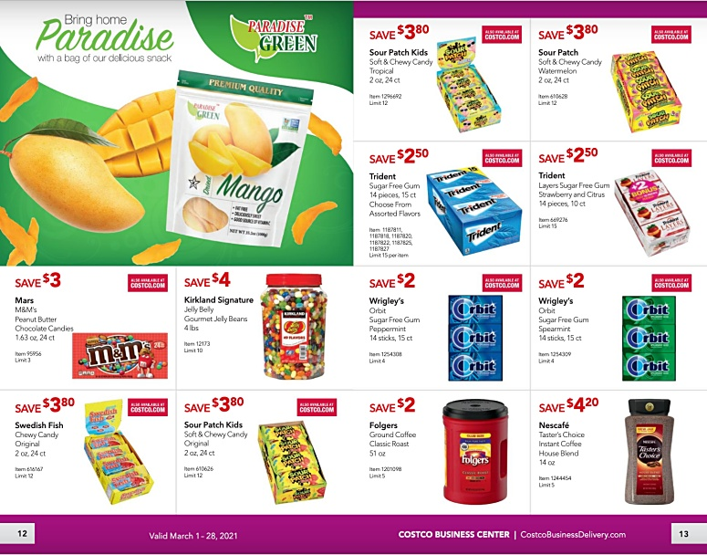 Costco Coupon Book Business Center MARCH 2021 Page 12 Page 13
