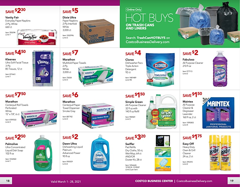Costco Coupon Book Business Center MARCH 2021 Page 18 page 19