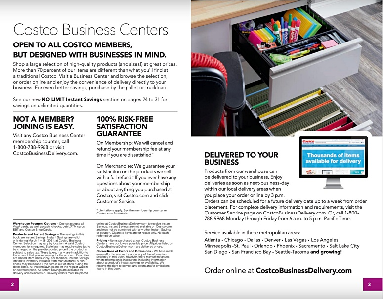 Costco Coupon Book Business Center MARCH 2021 Page 2 Page 3