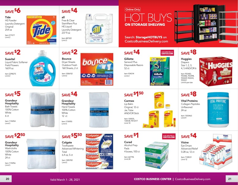 Costco Coupon Book Business Center MARCH 2021 Page 20 page 21