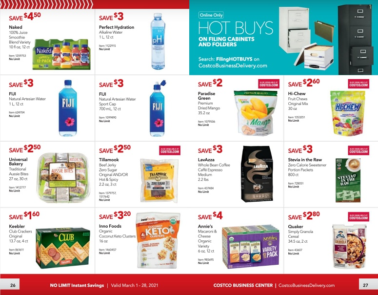Costco Coupon Book Business Center MARCH 2021 Page 26 page 27