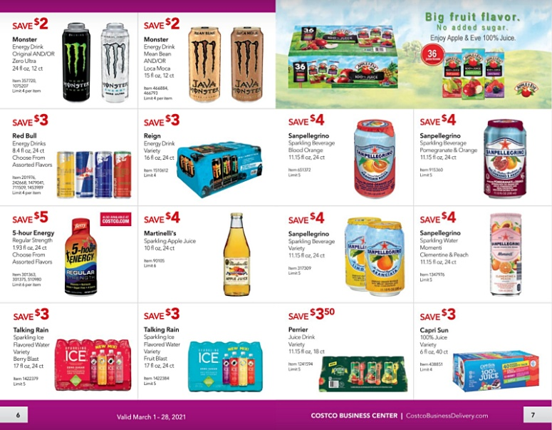 Costco Coupon Book Business Center MARCH 2021 Page 6 Page 7