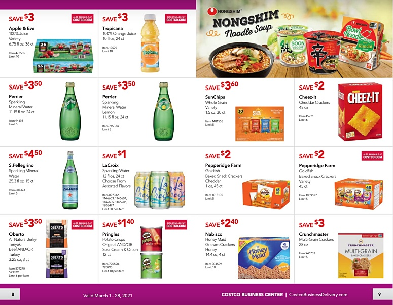 Costco Coupon Book Business Center MARCH 2021 Page 8 Page 9