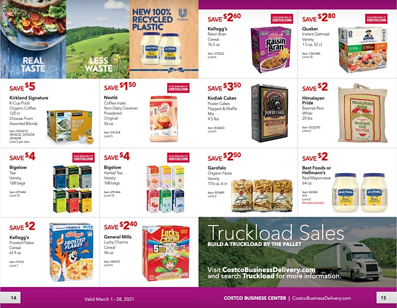 Costco Coupon Book Business Center MARCH 2021 page 14 page 15