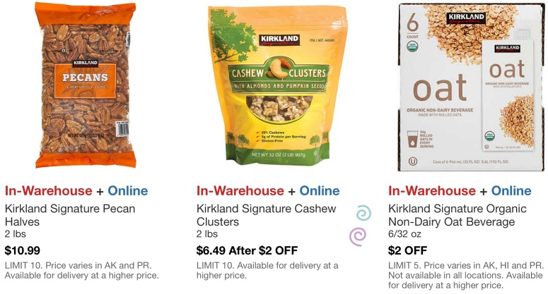 Costco Hot Buys March 2021 | Kirkland Signature Pecans, Cashew Clusters and Organic Non Dairy Oat Beverage