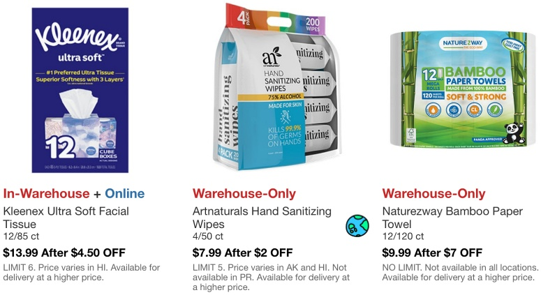Costco Hot Buys March 2021 | Kleenex, Artnaturals Hand Sanitizing Wipes, Naturezway Bamboo Paper Towel