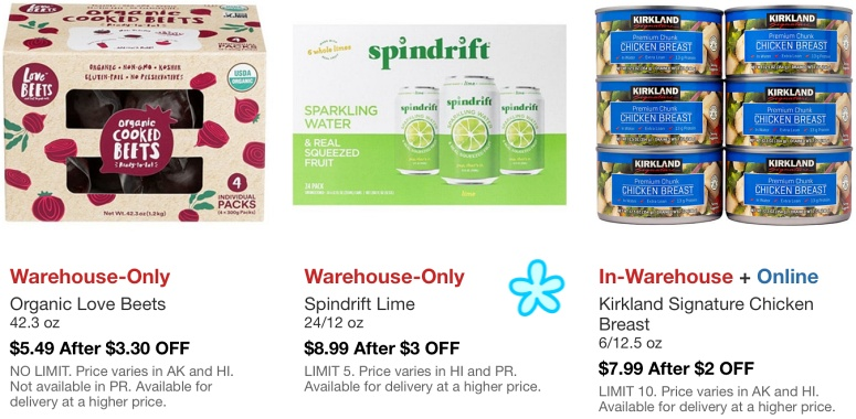Costco Hot Buys March 2021 | Organic Love Beets, Spindrift Lime Sparkling Water, Kirkland Signature Chicken Breast