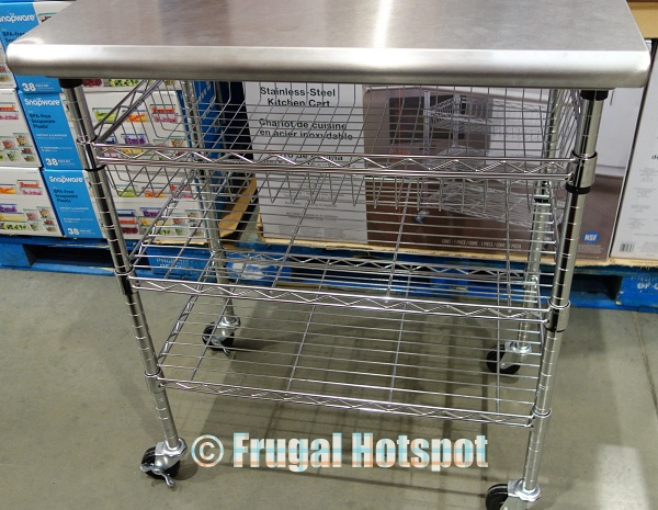 Display Seville Classics Stainless Steel Kitchen Cart at Costco