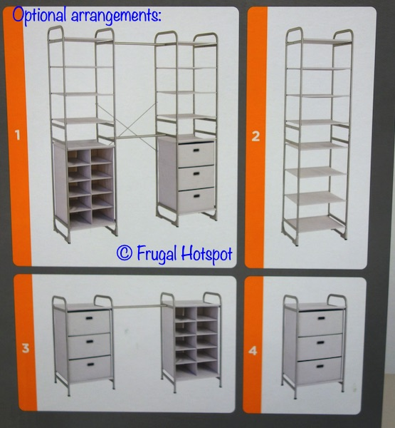 Neatfreak Versa System Modular Freestanding Storage arrangement options | Costco
