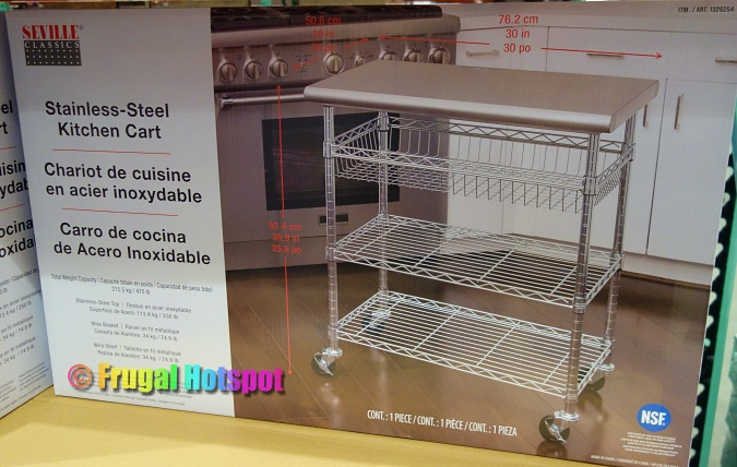 Seville Classics Stainless Steel Kitchen Cart | Costco