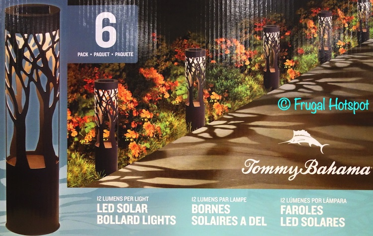 Tommy Bahama Solar LED Pathway Bollard Light 6-Pack | Costco